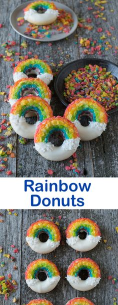 Tęczowe Donuts , słodko !