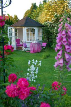 Piękny, wielobarwny ogród