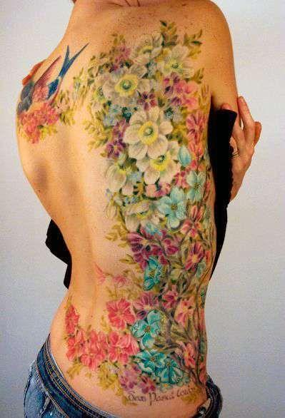 Kobiecy Tatuaż Z Kwiatami Damskie Inspiracje Twoje