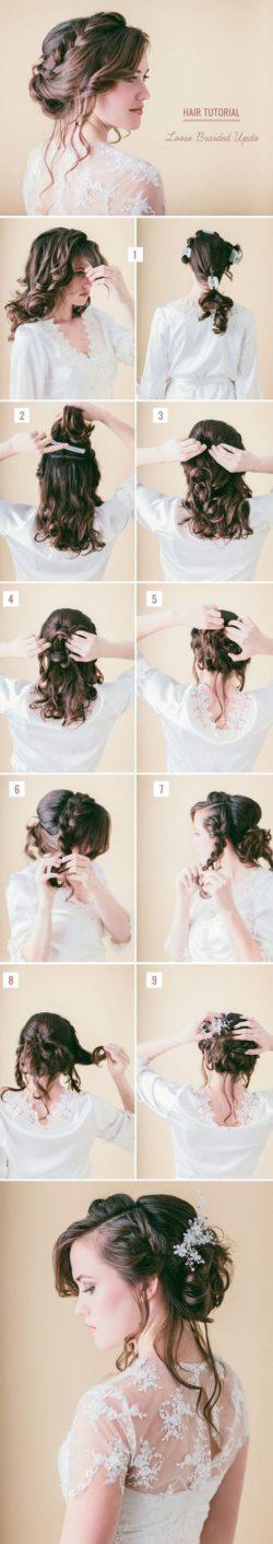 Fryzury Ślubne, Plecione Upięcie Włosów