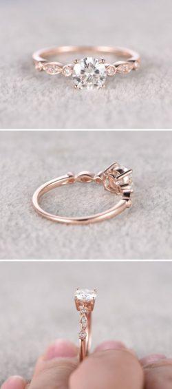 Biżuteria, pierścionki, Rose Gold i Róże