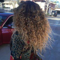 Kręcone Włosy, ombre