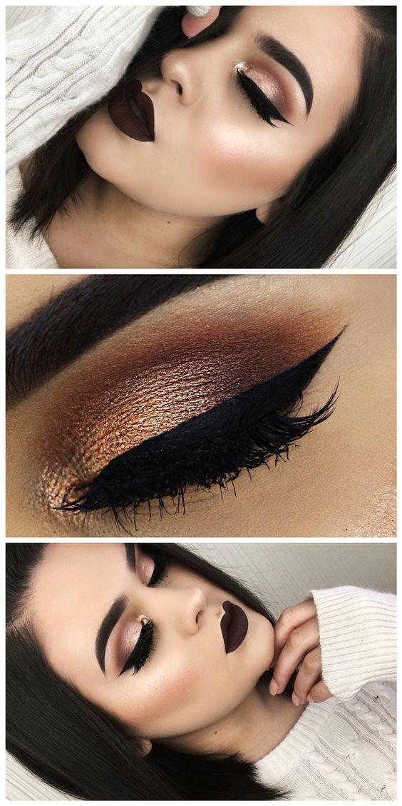 Makijaż, Ciemne Usta i Ciemny makijaż