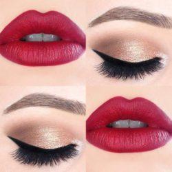 Przykłady Makijażu i Czerwone Usta
