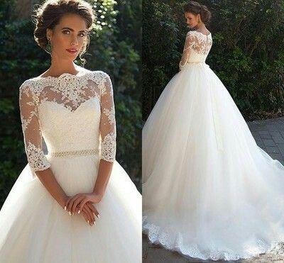 Suknia ślubna, koronka