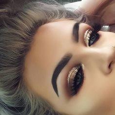 Brokatowy makijaż oka
