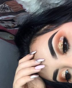 Makijaz, kobieta, cienie