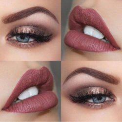 Makijaż oka, usta