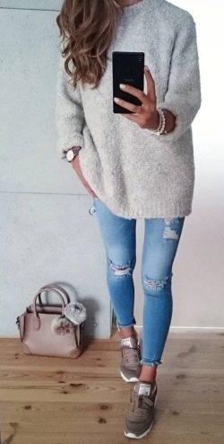 Swetry, stylizacje, Moda