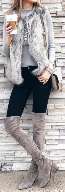 Kozaki za kolano, Moda uliczna, Zima