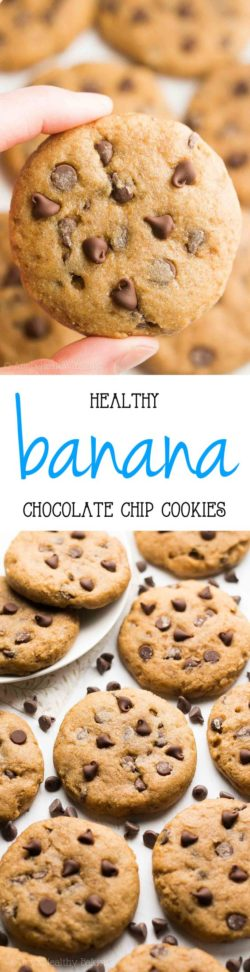 ciasteczka bananowe z kawałkami czekolady <3
