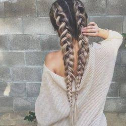 Warkocze, fryzury