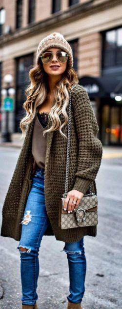 Kardigany, moda, trendy