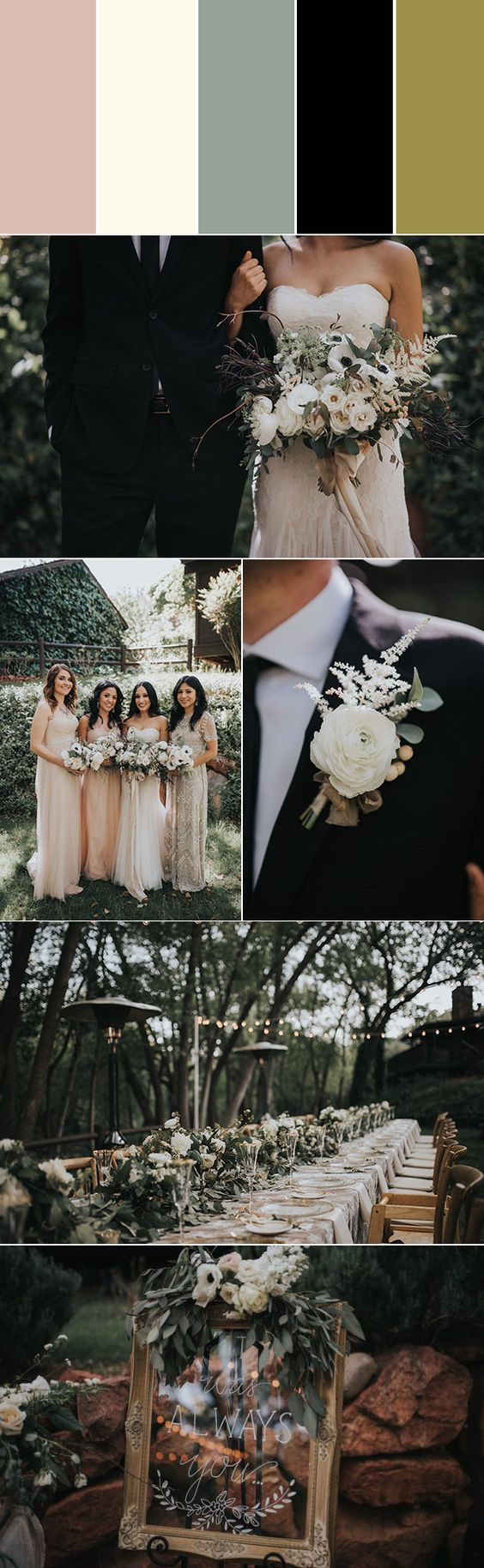 Ślubne inspiracje, kolory