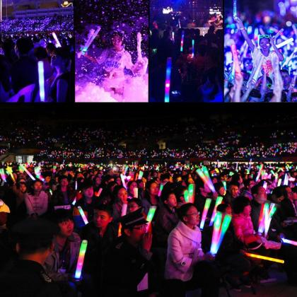 LED Glow Stick Multicolor Changing 3 Modes Flashing Foam Sticks LED Party Supplies Light Baton Wands  More information: http://www.seerootoys.com