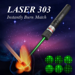 The popular green laser pointer products is laser 303, which contains not only a laser pen but also necessary accessories including a charger, two keys, a 18650 battery and 5 patterns caps. The battery is rechargeable with the attached charger, very eco-friendly, and 300mw laser is of large capacity for long working hours. The keys are designed for locking when you are not using the laser pen, ensuring safety. The 5 patterns caps show dot pattern, starry and multi patterns, get much fun. Generating a 532nm green light laser beam that If you going out for outdoor activities such as a picnic, camping, this powerful greenpointers that burns matches. Therefore, we recommend to you the cost-effective 303 product on htpow. https://www.htpow.com/300mw-green-high-power-laser-pointer-waterproof-adjustable-holster-p-1038.html