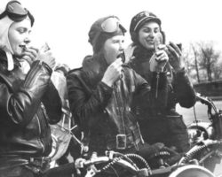 Vintage motorcycle girls